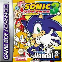 Portada oficial de Sonic Advance 3 para Game Boy Advance