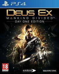Portada oficial de Deus Ex: Mankind Divided para PS4