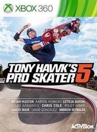 Portada oficial de Tony Hawk's Pro Skater 5 para Xbox 360