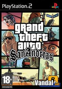 Portada oficial de Grand Theft Auto: San Andreas para PS2