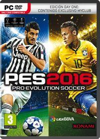 Portada oficial de Pro Evolution Soccer 2016 para PC