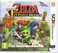 Portada oficial de The Legend of Zelda: Tri Force Heroes para Nintendo 3DS