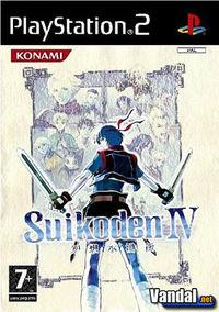 Portada oficial de Suikoden IV para PS2