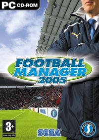 Portada oficial de Football Manager 2005 para PC