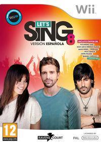 Portada oficial de Let's Sing 8 Versión Española para Wii