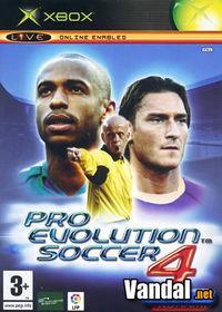 Portada oficial de Pro Evolution Soccer 4 para Xbox