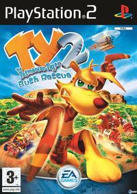 Portada oficial de Ty The Tasmanian Tiger 2 para PS2