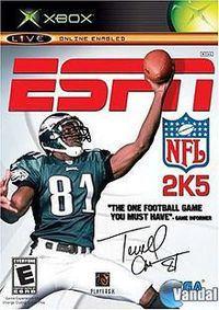 Portada oficial de ESPN NFL 2005 para Xbox