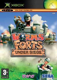 Portada oficial de Worms Forts Under Siege para Xbox