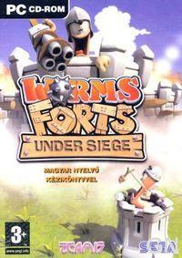 Portada oficial de Worms Forts Under Siege para PC