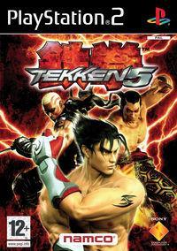 Portada oficial de Tekken 5 para PS2