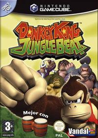 Portada oficial de Donkey Kong Jungle Beat para GameCube