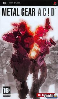 Portada oficial de Metal Gear Acid para PSP