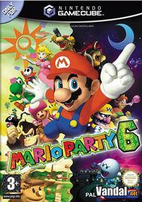 Portada oficial de Mario Party 6 para GameCube