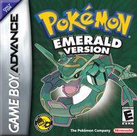 Portada oficial de Pokémon Esmeralda para Game Boy Advance