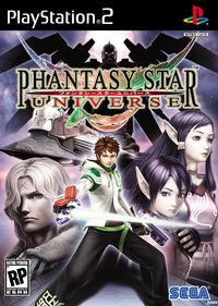 Portada oficial de Phantasy Star Universe para PS2
