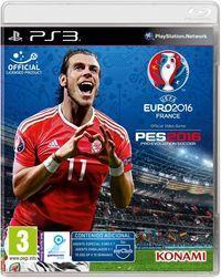 Portada oficial de PES UEFA EURO 2016 para PS3