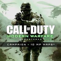 Portada oficial de Call of Duty: Modern Warfare Remastered para PC