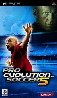 Portada oficial de Pro Evolution Soccer 5 para PSP