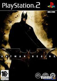 Portada oficial de Batman Begins para PS2