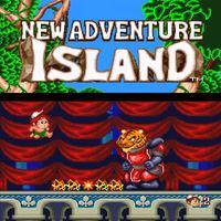 Portada oficial de New Adventure Island CV para Wii U