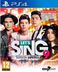 Portada oficial de Let's Sing 9 Versión Española para PS4