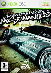 Portada oficial de Need for Speed: Most Wanted (2005) para Xbox 360
