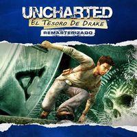 Portada oficial de Uncharted: El tesoro de Drake remasterizado para PS4