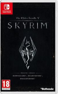 Portada oficial de The Elder Scrolls V: Skyrim para Switch
