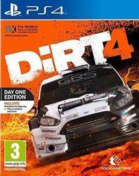 Portada oficial de DiRT 4 para PS4