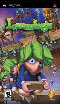 Portada oficial de Lemmings para PSP