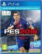 Portada oficial de de Pro Evolution Soccer 2018 para PS4