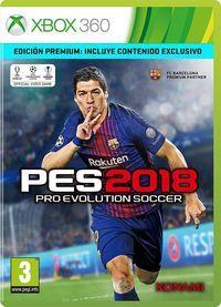 Portada oficial de Pro Evolution Soccer 2018 para Xbox 360