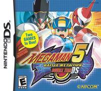 Portada oficial de Megaman Battle Network 5: Double Team para NDS