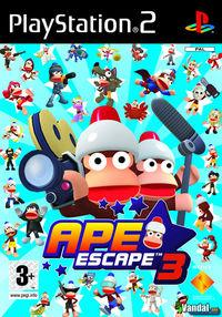 Portada oficial de Ape Escape 3 para PS2
