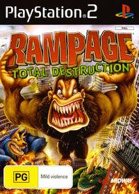 Portada oficial de Rampage: Total Destruction para PS2