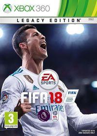 Portada oficial de FIFA 18 para Xbox 360