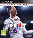 Portada oficial de de FIFA 18 para PS3