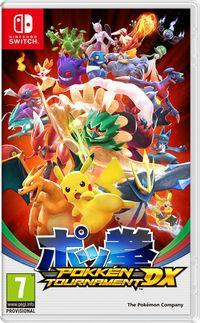 Portada oficial de Pokkén Tournament DX para Nintendo Switch