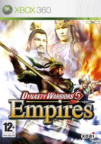Portada oficial de Dynasty Warriors 5 Empires para Xbox 360
