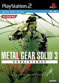 Portada oficial de Metal Gear Solid 3: Subsistence para PS2