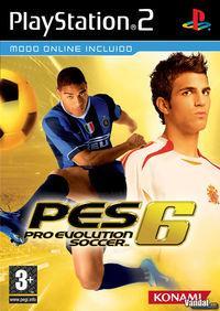 Portada oficial de Pro Evolution Soccer 6 para PS2
