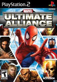 Portada oficial de Marvel: Ultimate Alliance para PS2