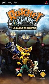 Portada oficial de Ratchet & Clank: El Tamaño Importa para PSP
