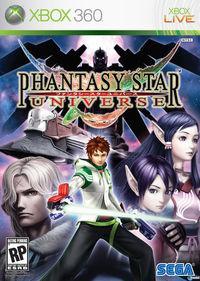 Portada oficial de Phantasy Star Universe para Xbox 360