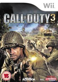 Portada oficial de Call of Duty 3 para Wii