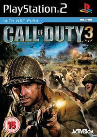 Portada oficial de Call of Duty 3 para PS2