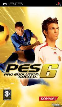 Portada oficial de Pro Evolution Soccer 6 para PSP