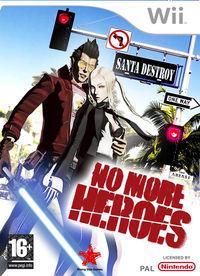 Portada oficial de No More Heroes para Wii