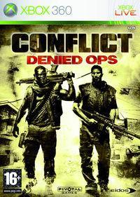 Portada oficial de Conflict: Denied Ops para Xbox 360